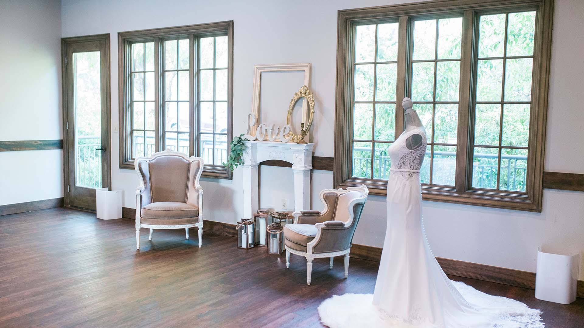 The bride's dressing room awaits its bride at Hiddenbrooke Golf Club in Vallejo